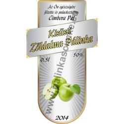 """Zöld alma pálinkás címke - """"Serene"""""""