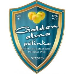 "Golden alma pálinka címke - ""Blueshield"""