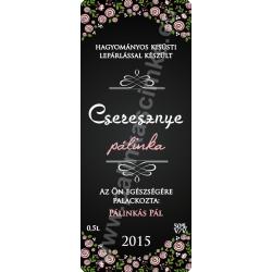 """Cseresznye pálinka címke - """"ROSEGARDEN"""""""