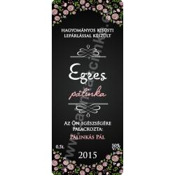 "Egres pálinka címke - ""ROSEGARDEN"""