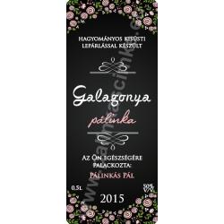 "Galagonya pálinka címke - ""ROSEGARDEN"""