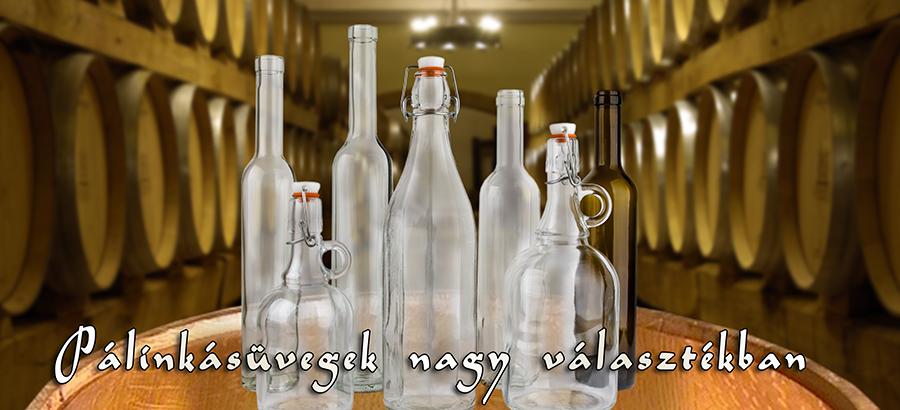 Pálinkásüveg, csatos üveg, svéd bordói, elit bordói, elit oliv