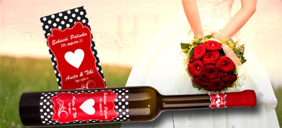 Eljegyzésre, esküvőre címke